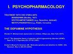 i psychopharmacology