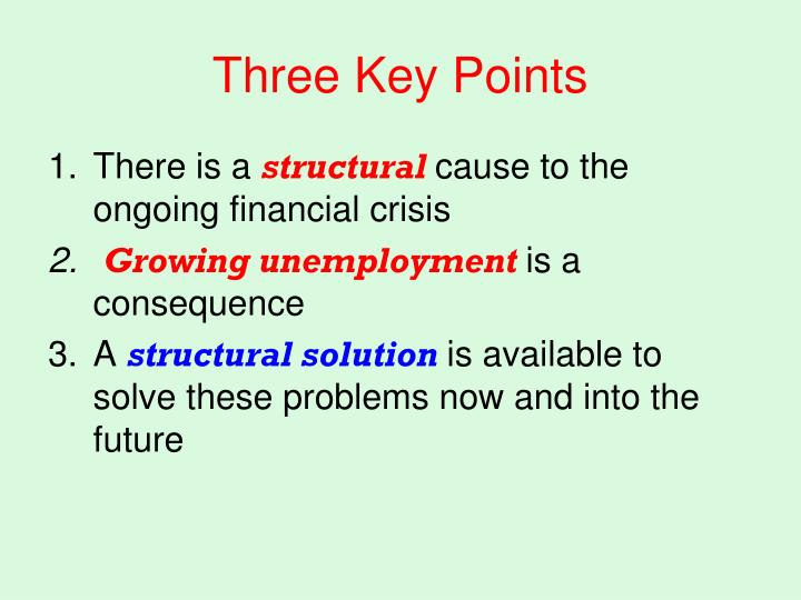 Three Key Points