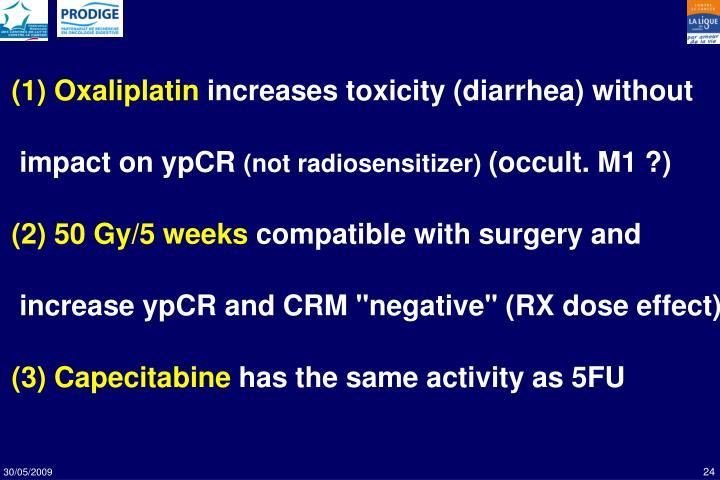 (1) Oxaliplatin