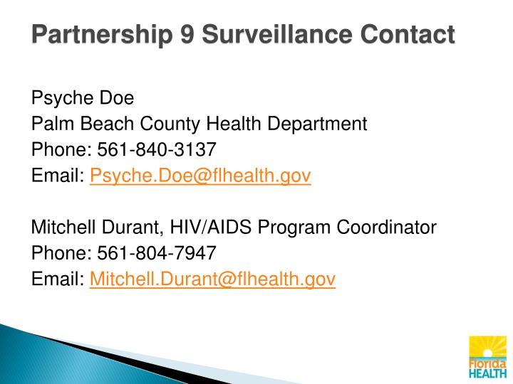 Partnership 9 Surveillance Contact