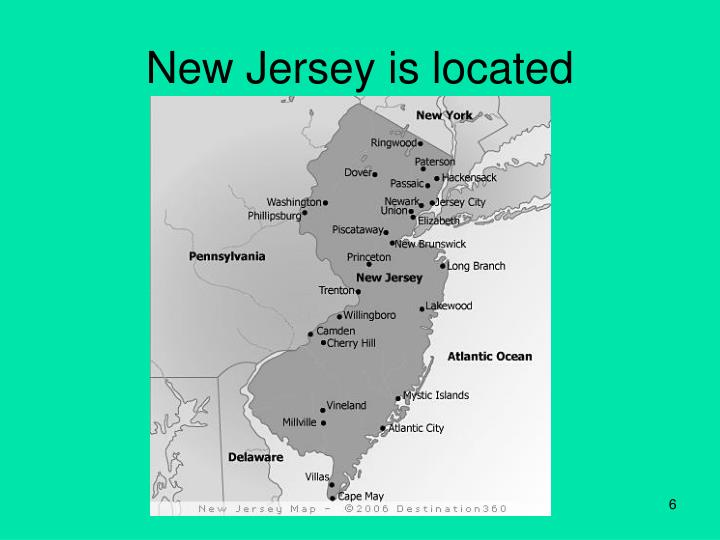 New Jersey is located