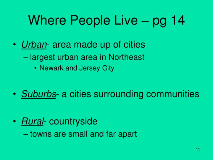 Where People Live – pg 14