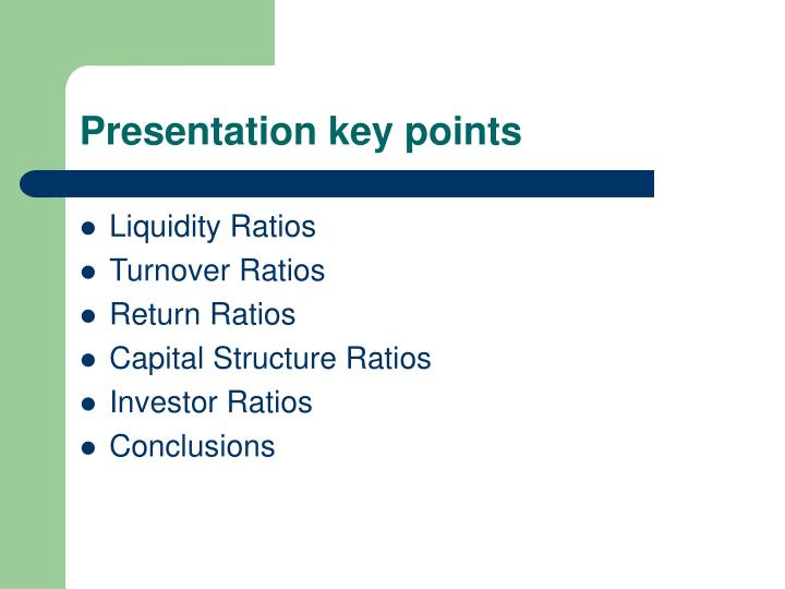 Presentation key points