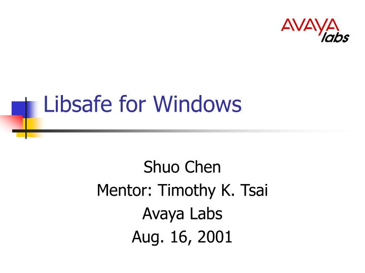 libsafe for windows