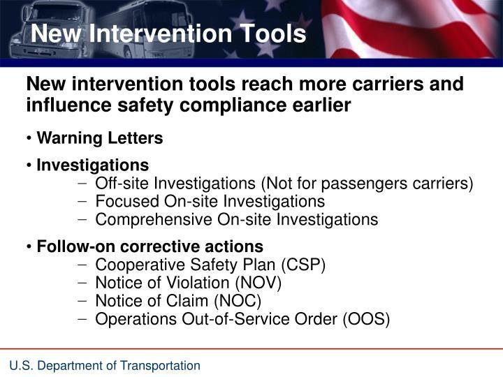 New Intervention Tools