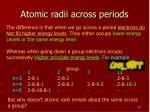 atomic radii across periods2
