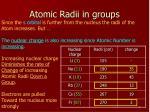 atomic radii in groups1
