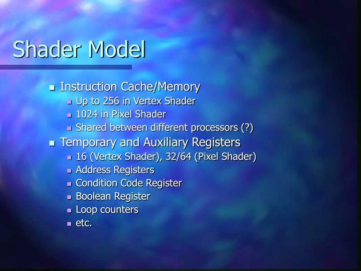 Shader Model
