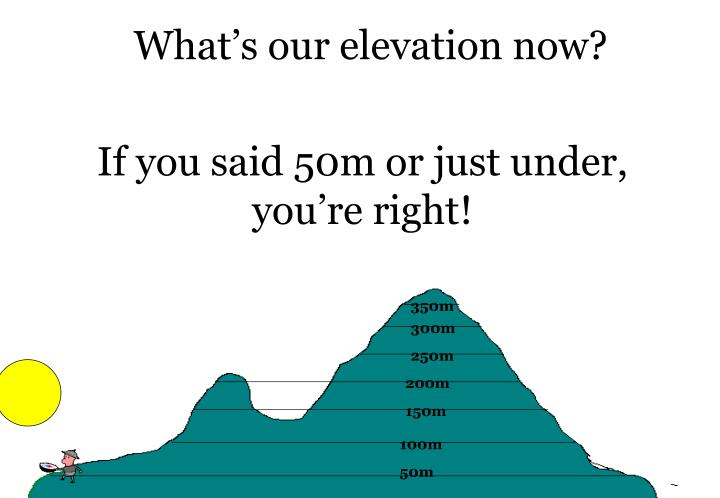 What's our elevation now?