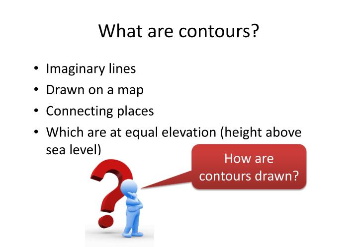 What are contours?