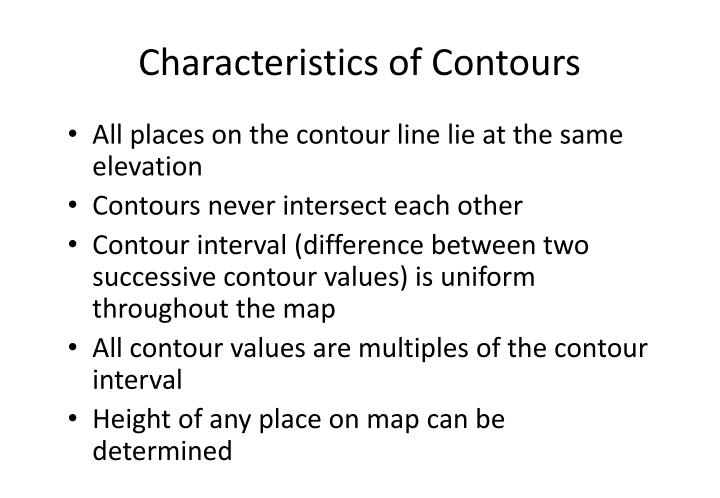 Characteristics of Contours