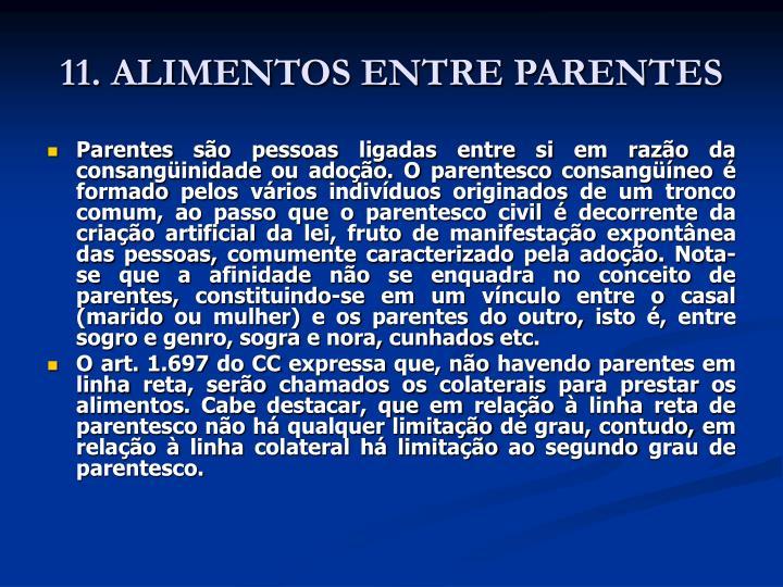 11. ALIMENTOS ENTRE PARENTES