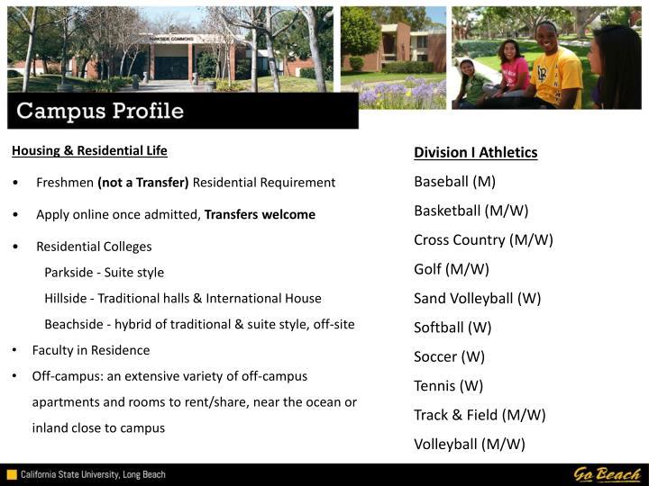 Division I Athletics