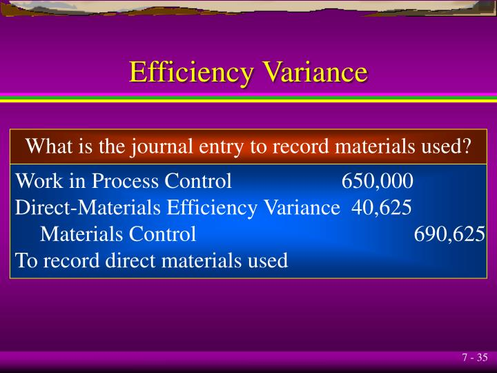 Efficiency Variance