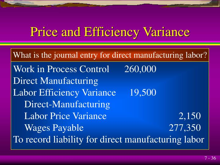 Price and Efficiency Variance