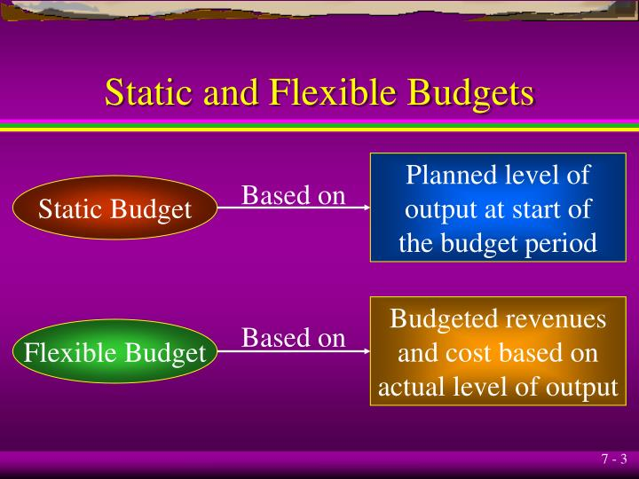 Static and flexible budgets