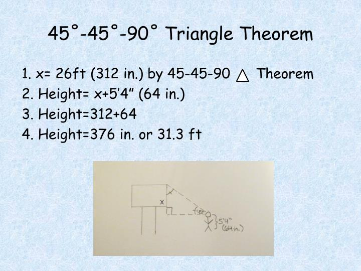 45 45 90 triangle theorem
