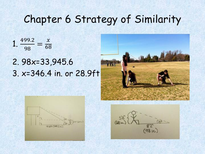 Chapter 6 Strategy of Similarity