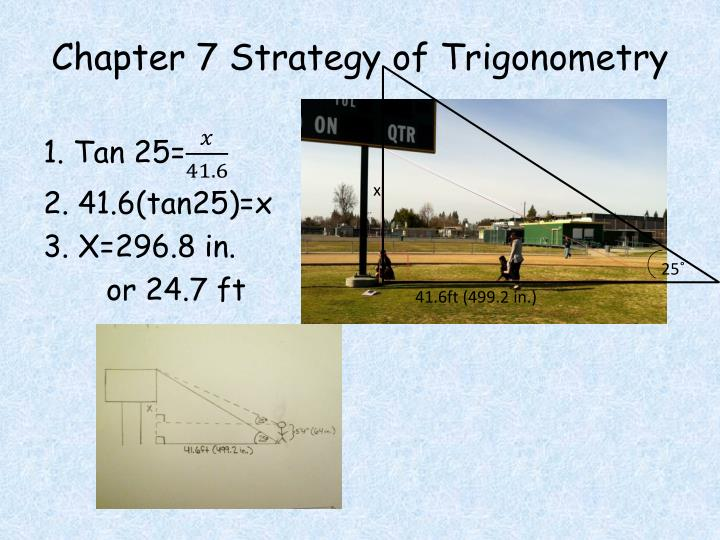 Chapter 7 strategy of trigonometry