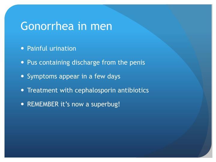 Gonorrhea in men