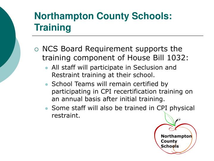 Northampton County Schools: Training