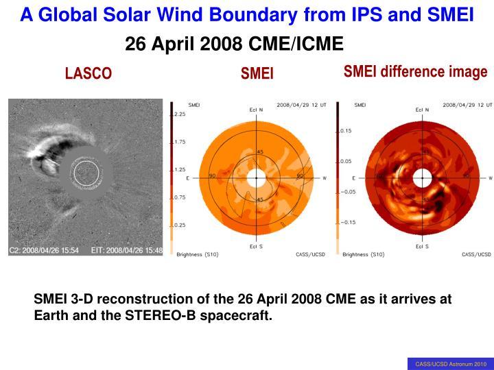 26 April 2008 CME/ICME