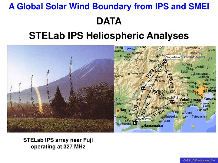 Stelab ips heliospheric analyses