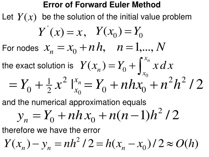 Error of Forward Euler Method