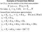 examples of forward euler method