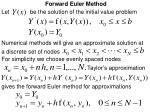 forward euler method
