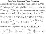 two point boundary value problems