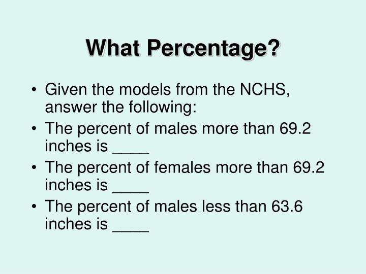What Percentage?