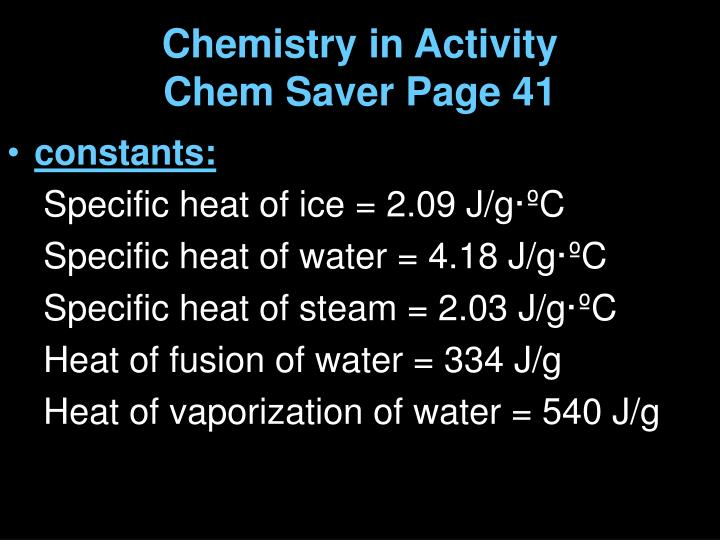 Chemistry in Activity