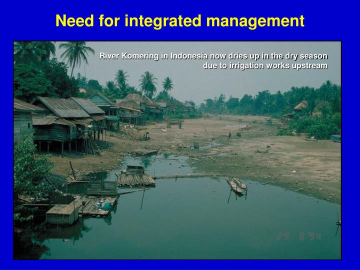 Need for integrated management