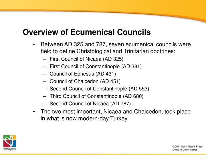 Overview of Ecumenical Councils