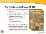 the first council of nicaea ad 325