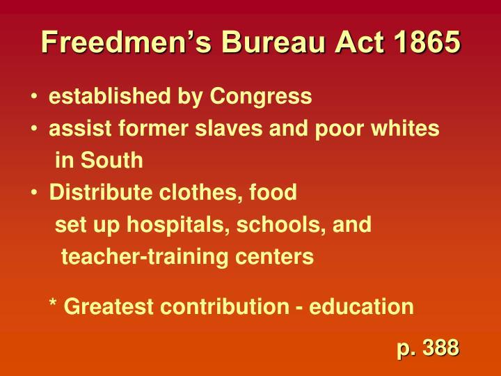 Freedmen's Bureau Act 1865