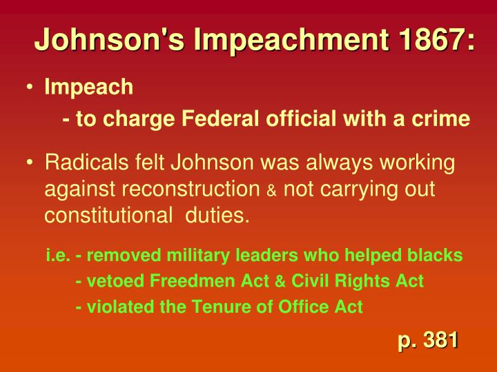 Johnson's Impeachment 1867: