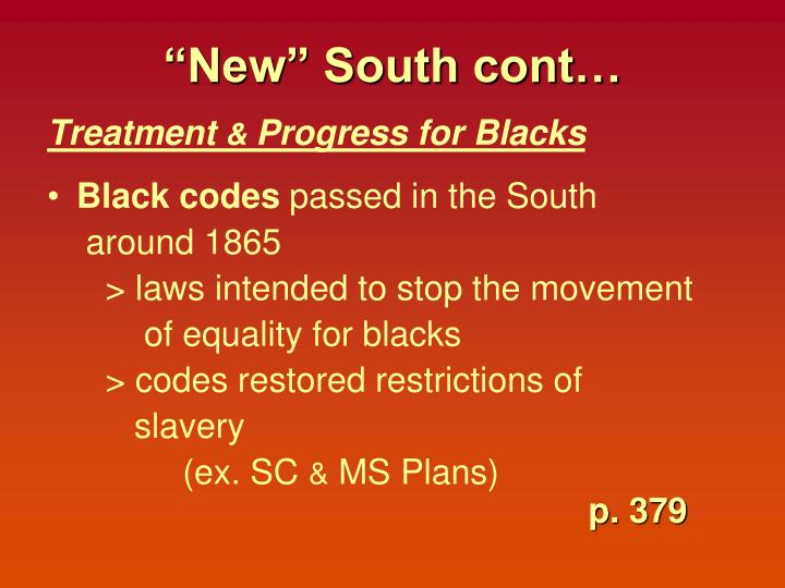 """New"" South cont…"
