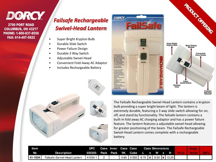 Failsafe Rechargeable