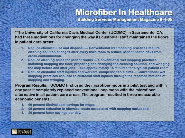 Microfiber In Healthcare