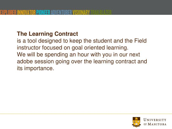 The Learning Contract