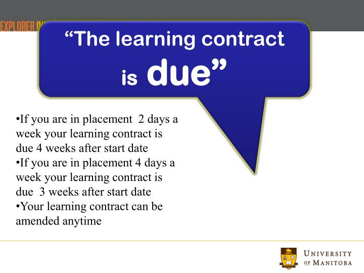 """The learning contract"