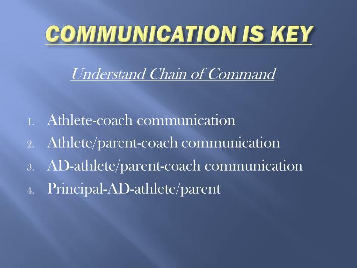 COMMUNICATION IS KEY