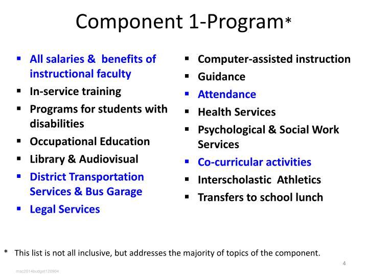 Component 1-Program