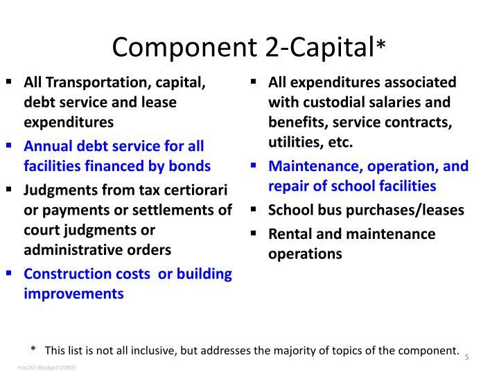 Component 2-Capital