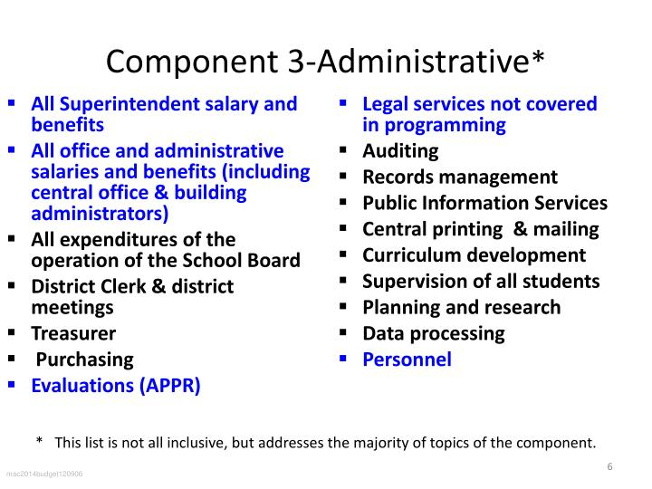 Component 3-Administrative
