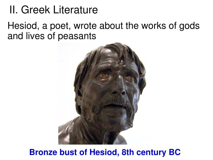 greek lit Start studying classical greek lit terms learn vocabulary, terms, and more with flashcards, games, and other study tools.