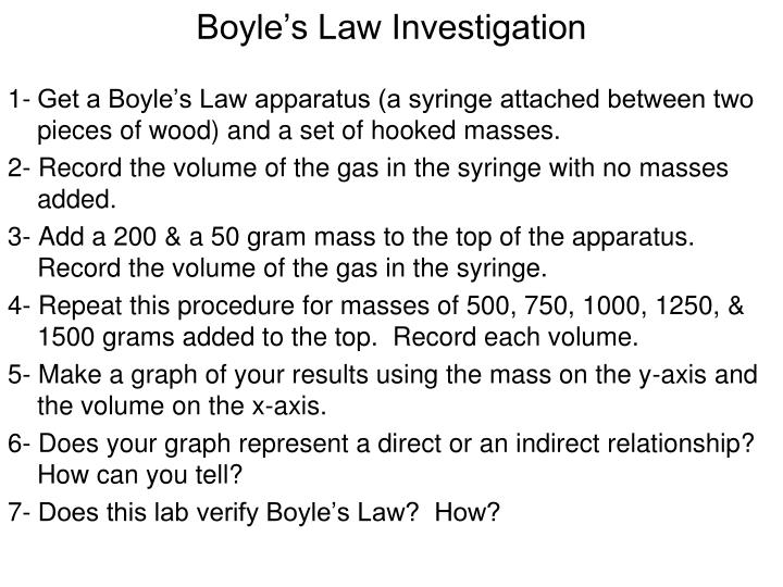 Boyle's Law Investigation