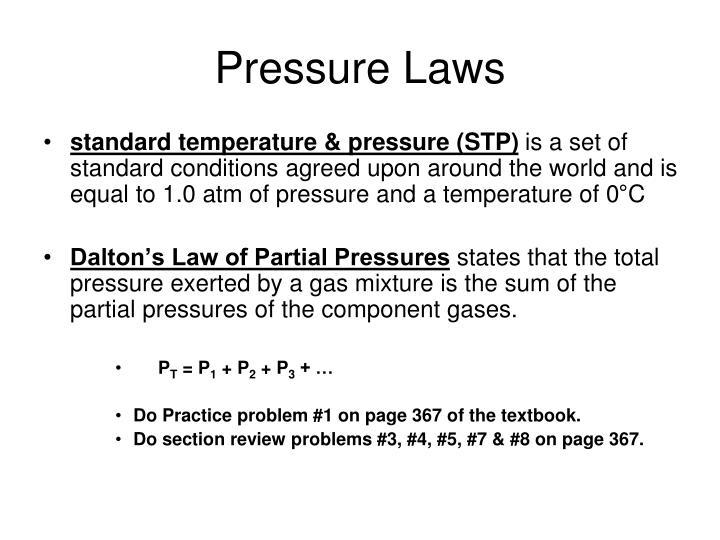 Pressure Laws
